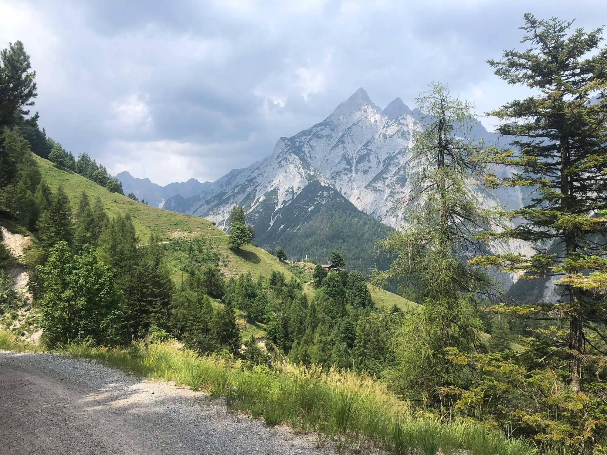 Blick zurück zur Ganalm - Mountainbike Rainer Eisendle