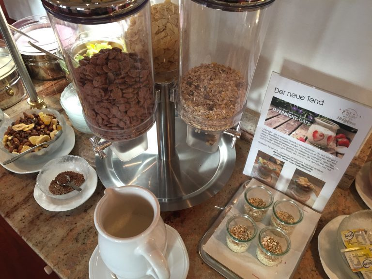 overnight oats und cereals- Hotel Heiligkreuz Hall bei Innsbruck