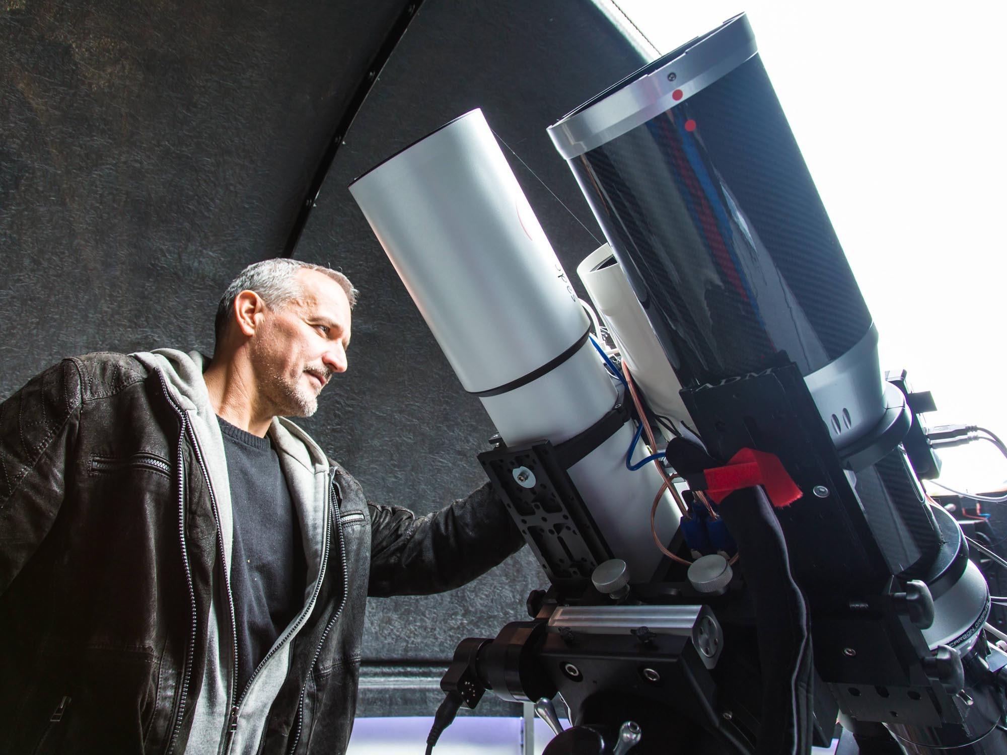 Sternwarte mit Teleskop am Weerberg vom Hotel Heiligkreuz in Hall