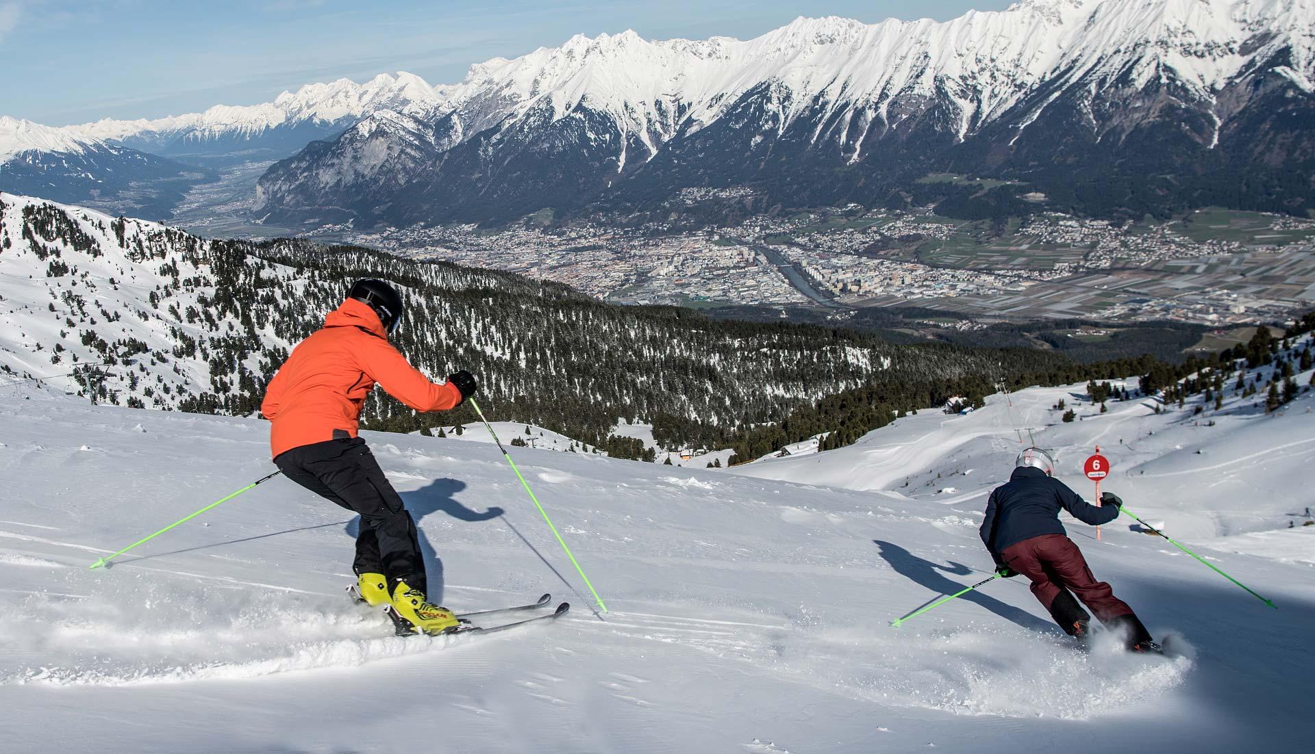 Skifahren am Glungezer in Tirol tvb hall