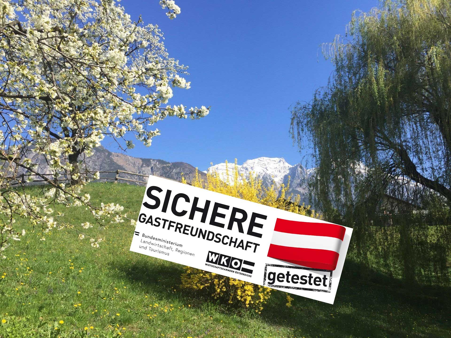 covid-getestet Hotel Heiligkreuz Hall in Tirol bei Innsbruck